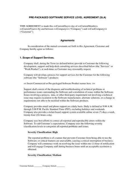 service contract template free printable documents