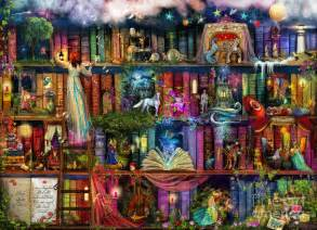 fairytale treasure hunt book shelf digital art by aimee