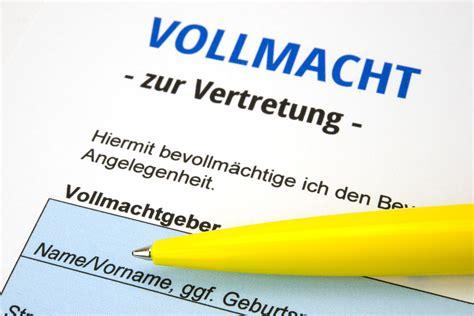 Brief Innerhalb Schweiz vollmacht muster vollmacht muster