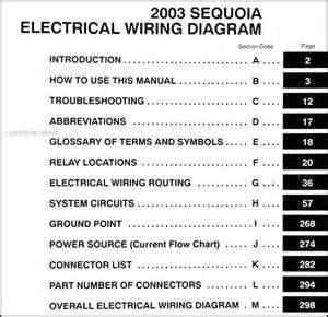 2003 toyota sequoia wiring diagram manual original