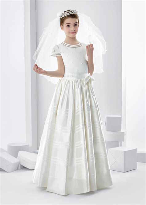 flower duet elegant  communion dresses feat