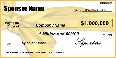 Award Check Template Signazon Com