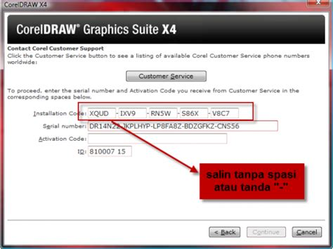 corel draw x4 enter serial number key for corel draw x4