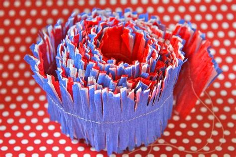 Make Crepe Paper Decorations - yesterday on tuesday patriotic crepe paper decorations