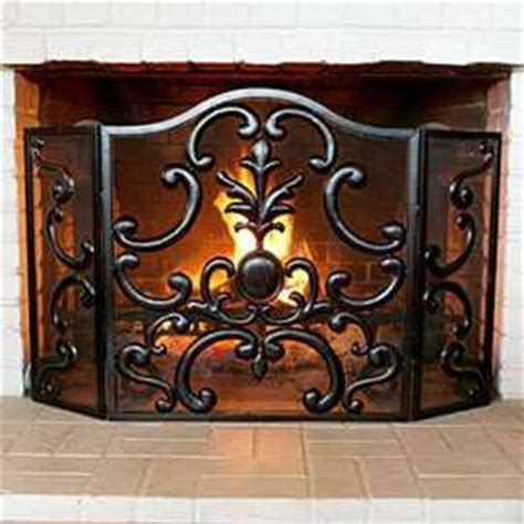Decorative Fireplace Screens Wrought Iron by Wrought Iron Fireplace Screen Living Rooms