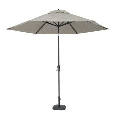 martha stewart patio umbrellas martha stewart living lyndon view 9 ft patio umbrella in beige dybcr umb the home depot