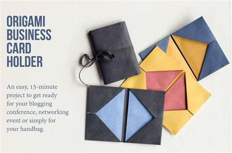 Origami Card Holder - origami business card holder tutorial and simple