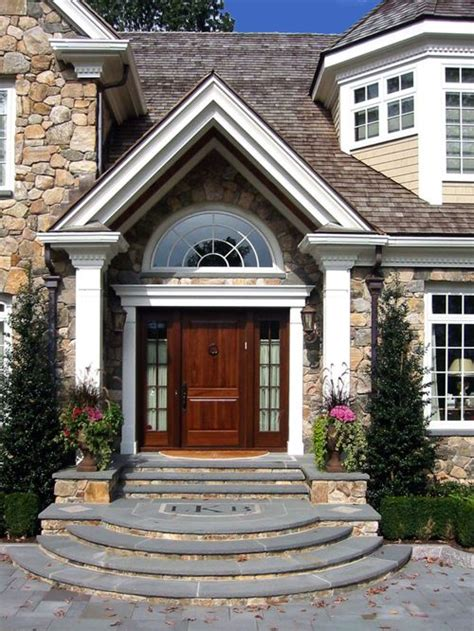 the house entrance door steps indian style curved entry steps houzz