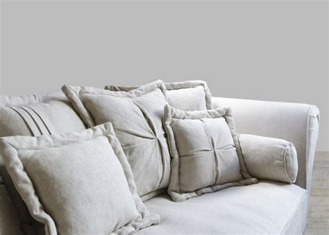 oversized loveseat sofa oversized sofa in sand linen