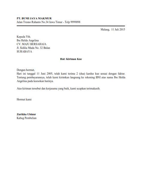 Surat Dinas Dalam Bentuk Full Block Style Surat Dinas