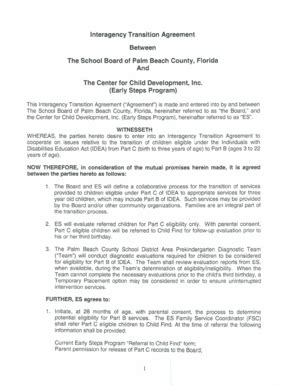 Interagency Agreement Template