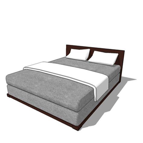 3d bed grey bed 3d model formfonts 3d models textures