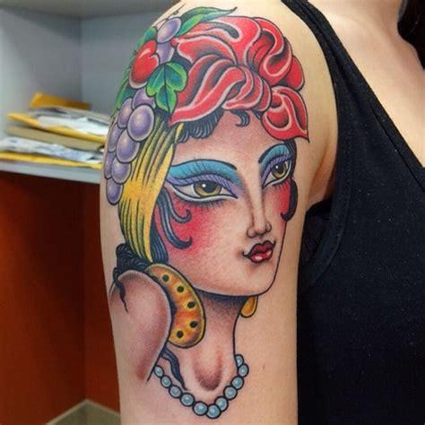 new school gypsy tattoo shoulder new school gypsy tattoo by marc nava