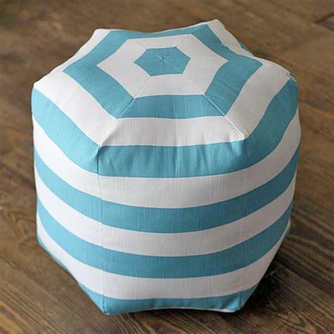 how to make a hexagon diy floor pouf