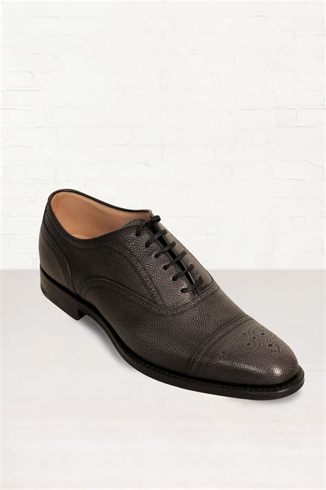 gray oxford shoes church s burstock smoke leather oxford shoes in gray for