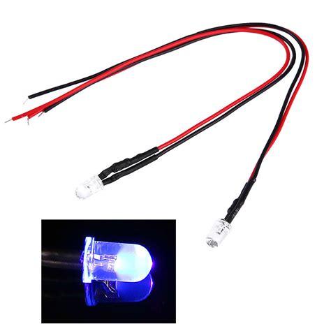 led diode flat 10pcs led light pre wired 5mm 12v dc f5 flat emitting diodes home car decor ebay