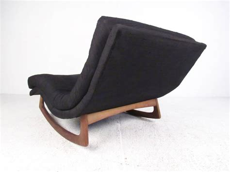 adrian pearsall rocking chaise mid century adrian pearsall chaise wave rocker at 1stdibs