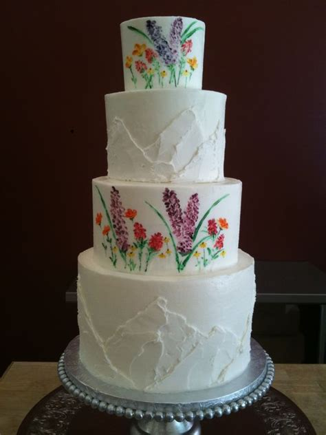 Wedding Cake Mountain by Wildflowers And Mountain Wedding Cake For A