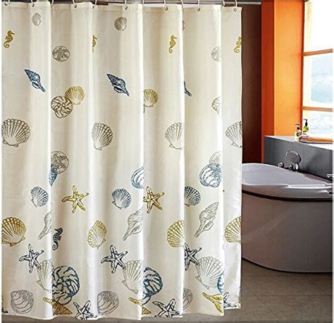 standard length of shower curtain eforcurtain standard size beach pattern bathroom shower