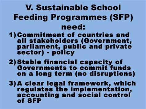 sfp layout guidelines strengthenings school feeding programmes in the framework