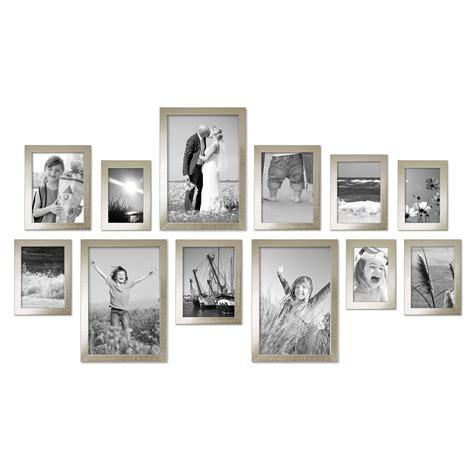 moderne bilderrahmen 12er set bilderrahmen modern silber massivholz 10x15 bis