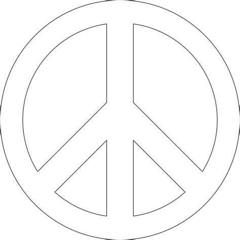 Stencil Printable Images Gallery Category Page 18 Peace Sign Template