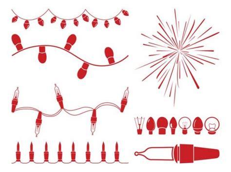 christmas lights graphics vector ai pdf free graphics