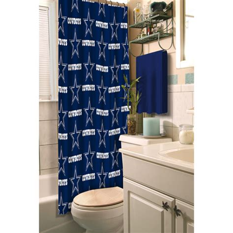 dallas cowboys shower curtains dallas cowboys decorative bath collection polyester shower