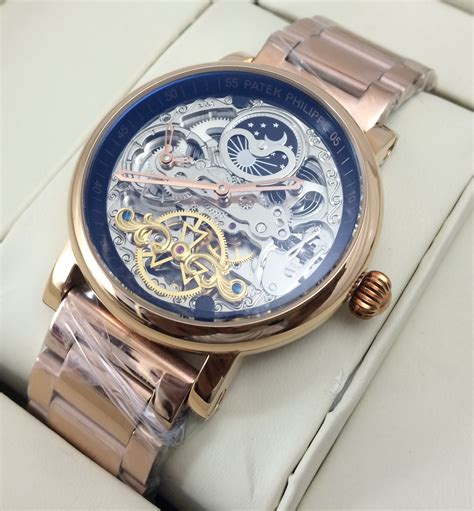 Online Shopping For Home Decor In India by Patek Philippe Geneve Moonphase Skeleton Swiss Watch Best
