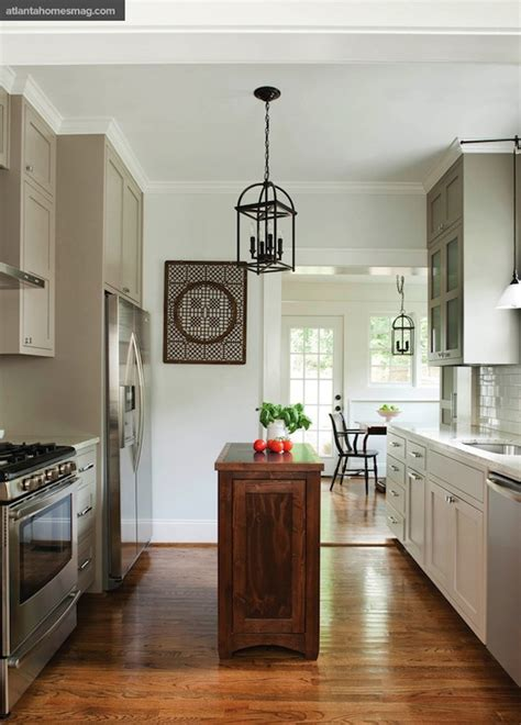gray kitchen cabinets transitional kitchen sherwin williams fleur sel atlanta homes