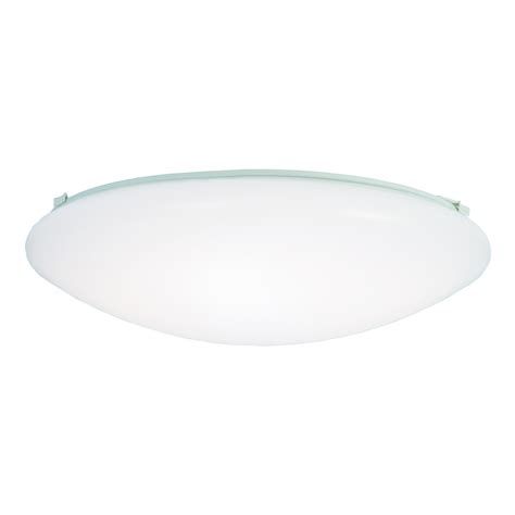 Shop Metalux Fmled 16 In W White Led Ceiling Flush Mount Ceiling Light In