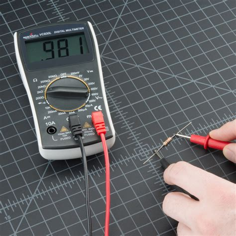 measure resistor with multimeter how to use a multimeter learn sparkfun