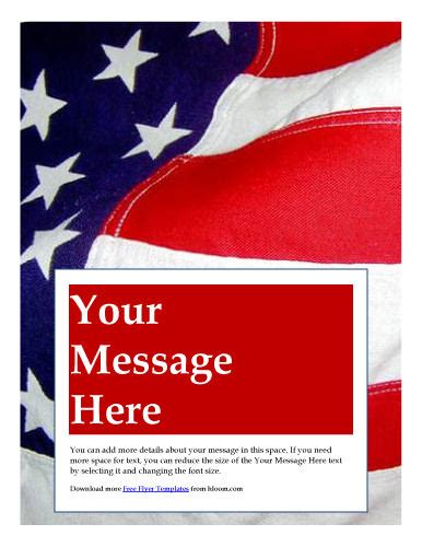 Free American Flag Flyer Template 10 Best Images Of Patriotic Free Printable Templates American Flag Flyer Templates Free Free