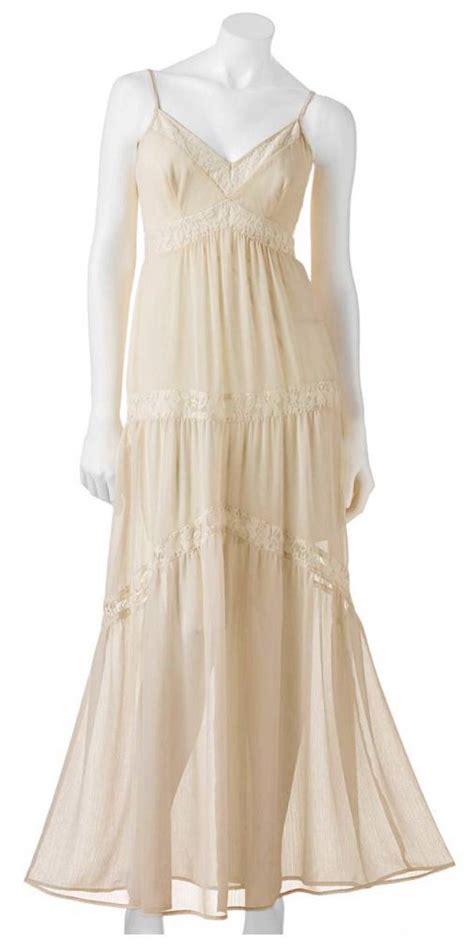 Dahlia Maxy Lacoste haight kohls ivory chiffon lace maxi dress size