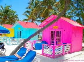 colorful beach houses pink beach house tumblr
