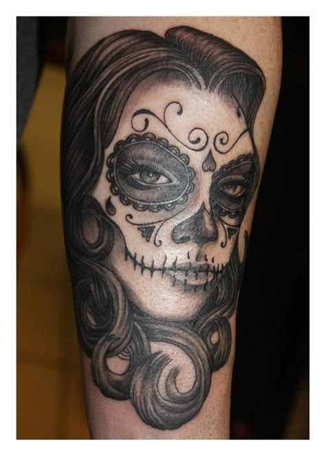 female skull tattoos sugar skull pictures to pin on tattooskid