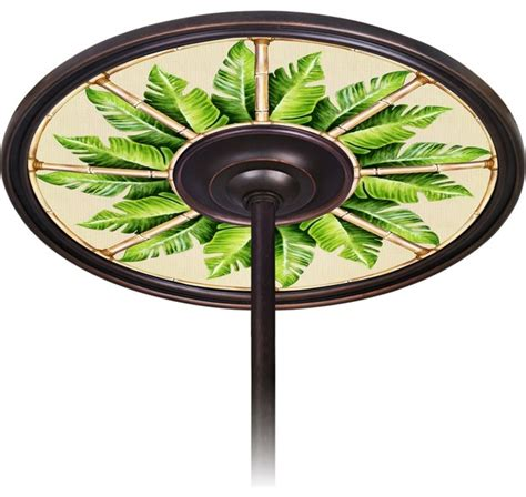 Ceiling Fan Medallion by Tropical Pacific Palm 6 1 2 Quot Opening Bronze Ceiling Fan