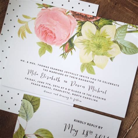 Thick Paper Wedding Invitations by Garden Wedding Invitation Ultra Thick Paper Floral
