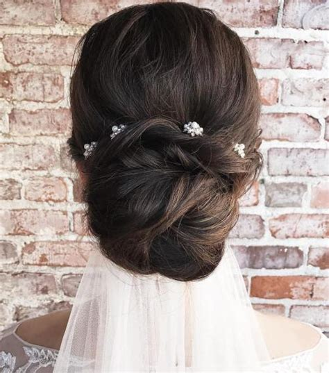 Wedding Hair Bun Veil by 40 Gorgeous Wedding Hairstyles For Hair