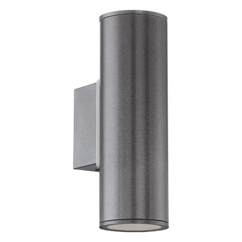 Riga Twin Led Outdoor Wall Light Anthracite Lighting Contemporary Outdoor Up Down Lights