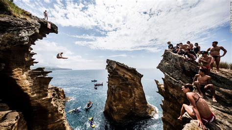 bull cliff dive rachelle america s of cliff diving cnn
