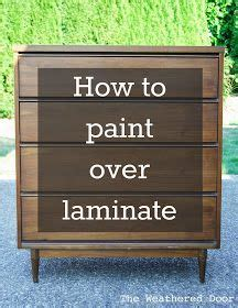 How To Paint Veneer Kitchen Cabinets 25 Great Ideas About Laminate Cabinet Makeover On