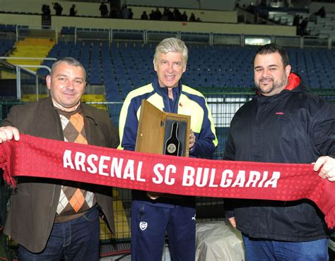 arsenal bulgaria arsene wenger meets the arsenal bulgarian supporters club