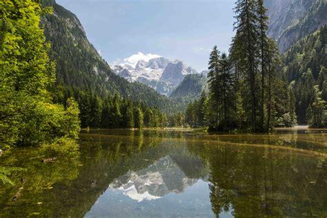 Discounted Home Decor austria mountains gosau lake canvas print printground