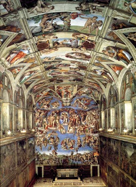 the sistine chapel with frescos by the greatest italian