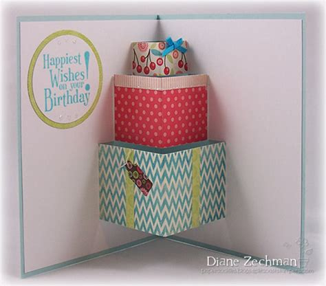 how to make birthday pop up cards easy august 2012