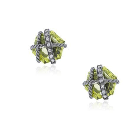 david yurman cable wrap lemon citrine earrings