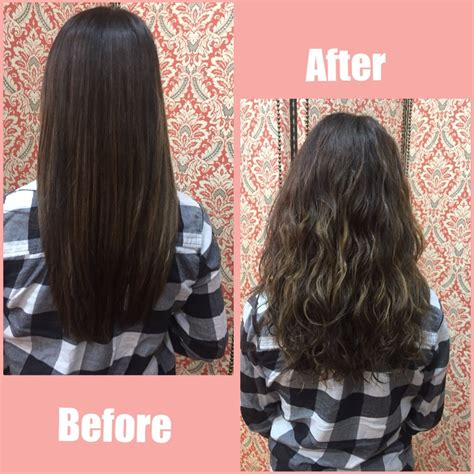 texture wave before and after texture perms before and after this is a great beach wave