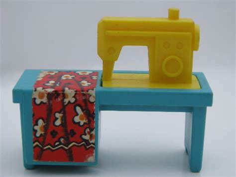 dollhouse 80s fisher price dollhouse sewing machine 70s