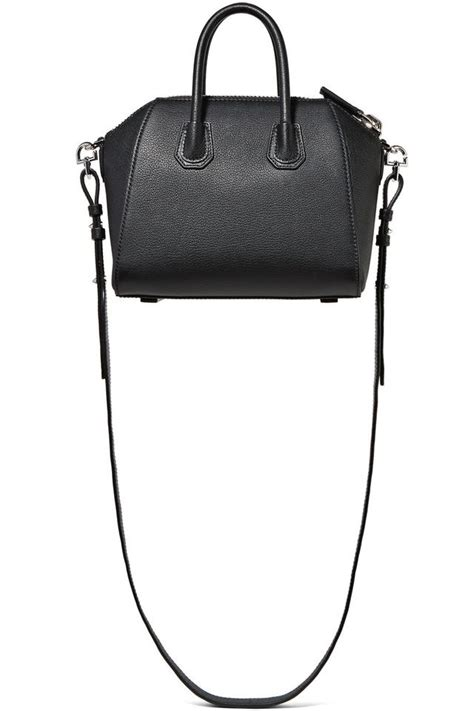 Givenchy Antigona Grained Hardware Black 4 In 1 2247 3 Givenchy Black Leather Last One Mini Antigona In Grained